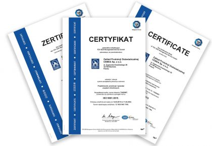 ISO 9001: 2015 quality certificate – audit