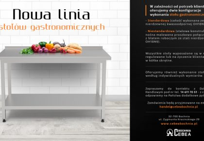 Nowa linia stołów gastronomicznych