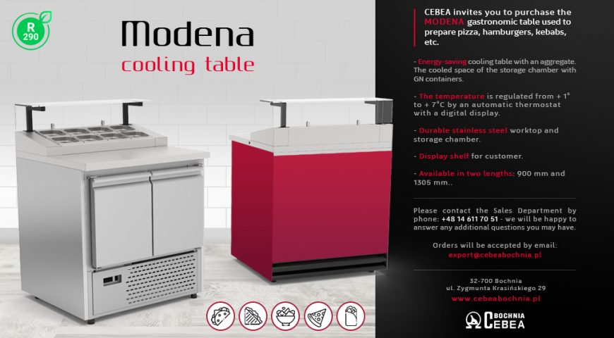 Modena – cooling table