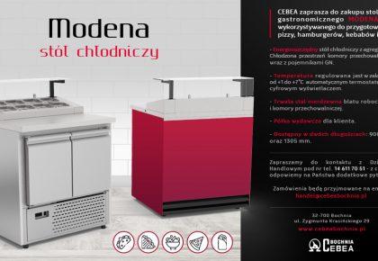Modena – stół chłodniczy